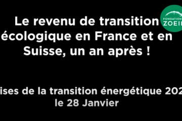 Conférence : Le revenu de transition écologique en France et en Suisse, un an après
